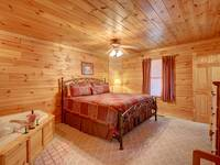 BEDROOM 1 (MAIN LEVEL) at SIMPLE COMFORTS in Sevier County TN