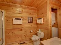 BATHROOM 1 (MAIN LEVEL) at SIMPLE COMFORTS in Sevier County TN