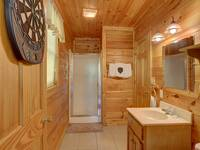 BATHROOM 2 (UPSTAIRS) at SIMPLE COMFORTS in Sevier County TN
