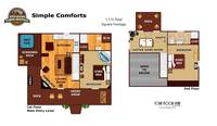 UNIT LAYOUT at SIMPLE COMFORTS in Sevier County TN
