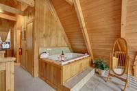 JACUZZI IN LOFT at LECONTE VIEW in Sevier County TN