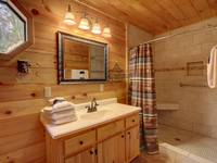 BATHROOM 1 (MAIN LEVEL) at SUITE ALTITUDE in Sevier County TN