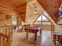 POOL TABLE / LOFT at SUITE ALTITUDE in Sevier County TN