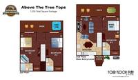 UNIT LAYOUT at ABOVE THE TREE TOPS in Pigeon Forge TN