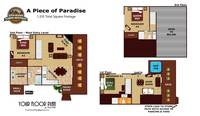 UNIT LAYOUT at A PIECE OF PARADISE in Gatlinburg TN
