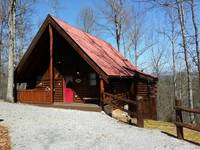 EXTERIOR (WINTER) at HONEY BEAR HIDEAWAY in Sevier County TN