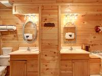 MASTER BATHROOM (Bathroom 1 / Downstairs) at CREEKSIDE in Sevier County TN