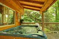 HOT TUB at CREEKSIDE in Sevier County TN