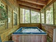 HOT TUB at WINTER HAVEN in Sevier County TN