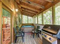 SCREENED DECK at WINTER HAVEN in Sevier County TN
