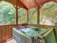 HOT TUB at A CHERRY BLOOM in Sevier County TN