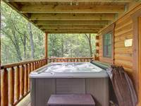 HOT TUB / BACK DECK at GOT MOOSE in Sevier County TN