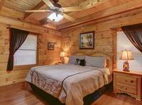 BEDROOM 1 at LAZY DAZE in Sevier County TN