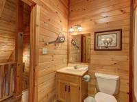 BATHROOM 2 (UPSTAIRS) at LAZY DAZE in Sevier County TN
