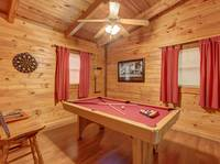 POOL TABLE (LOFT) at LAZY DAZE in Sevier County TN