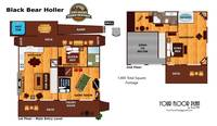 UNIT LAYOUT at BLACK BEAR HOLLER in Gatlinburg TN