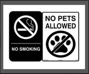 NO SMOKING / NO PETS