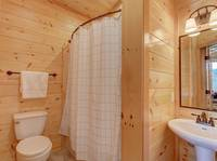 BATHROOM 2 at MOUNTAIN LOOKOUT in Gatlinburg TN