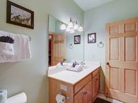 BATHROOM 1 at AMAZING MTN HIDEAWAY in Sevier County TN