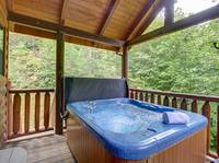 HOT TUB at AMAZING MTN HIDEAWAY in Sevier County TN