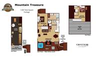UNIT LAYOUT at MOUNTAIN TREASURE in Sevier County TN