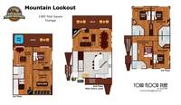 UNIT LAYOUT at MOUNTAIN LOOKOUT in Gatlinburg TN