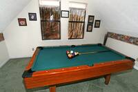 POOL TABLE at ABOVE THE CLOUDS in Sevier County TN