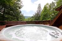 HOT TUB at HEATHERS HIDEAWAY in Sevier County TN
