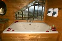 Upstairs Jacuzzi Tub at MAJESTIC ESCAPE in Sevier County TN