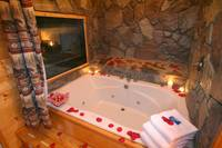 Cabin Jacuzzi at MAJESTIC ESCAPE in Sevier County TN