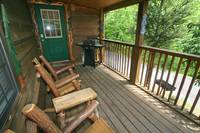 DECK at XANGELS HIDEOUT in Sevier County TN