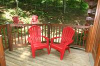 DECK CHAIRS at BEAR TOP HIDEAWAY in Pigeon Forge TN