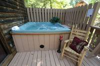 HOT TUB at GRAY WOLF in Sevier County TN