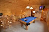 GAME AREA IN LOFT at BEARWAY TO HEAVEN in Sevier County TN