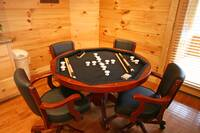 CARD TABLE at BEARWAY TO HEAVEN in Sevier County TN