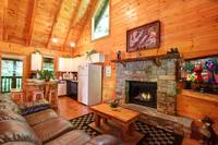 LIVING AREA at AS GOOD AS IT GETS in Sevier County TN