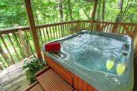 HOT TUB at XBIRD'S NEST in Gatlinburg TN