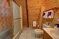 BATHROOM at HEATHERS HIDEAWAY in Sevier County TN