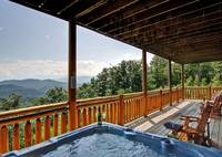 VIEW FROM HOT TUB at MAJESTIC ESCAPE in Sevier County TN