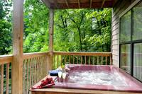 HOT TUB at XHELENS HAVEN in Sevier County TN