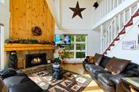 LIVING AREA at ALPINE VIEW in Gatlinburg TN