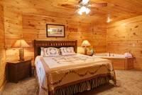 BEDROOM 1 (MAIN LEVEL) at BEARWAY TO HEAVEN in Sevier County TN