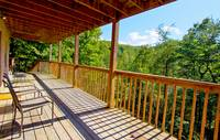 DECK at BEN'S HIDEOUT in Sevier County TN