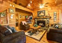 LIVING AREA at MOUNTAIN MISCHIEF in Sevier County TN