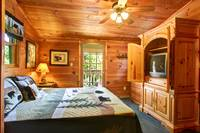 BEDROOM 1 at MOUNTAIN MISCHIEF in Sevier County TN