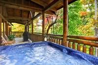 HOT TUB at WHISPERING WINDS in Sevier County TN