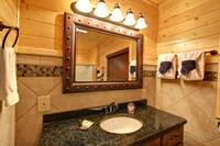 BATHROOM at MOUNTAIN MAJESTY in Sevier County TN
