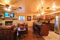 LIVING AREA at MOUNTAIN MAJESTY in Sevier County TN