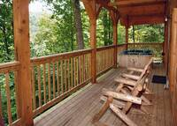 DECK at ASLEEP BY THE CREEK in Sevier County TN
