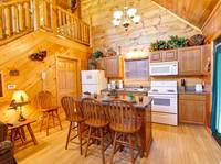 KITCHEN AREA at ASLEEP BY THE CREEK in Sevier County TN